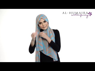 LANAA shawl styling tutorial by Al-Humaira Contemporary
